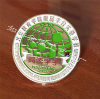 北京 学校金属徽章定做 胸章胸针定制 个性高档毕业纪念章订做